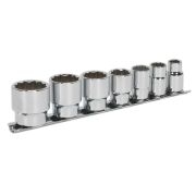 "Sealey AK2676 7 Piece 3/8"" Square Drive Whitworth Socket Set"