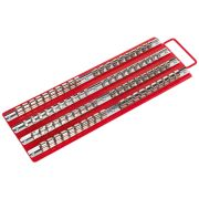 Sealey AK271 Socket Rail Tray (Red) For 1/4'', 3/8'' & 1/2'' Square Drive Sockets