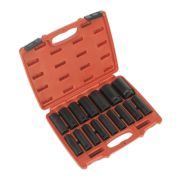 "Sealey AK5816M Impact Socket 16 Piece Deep Set 1/2"" Square Drive Metric"