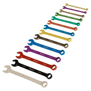 Sealey AK6314 Combination Spanner Set 14pc Multi-Coloured Metric