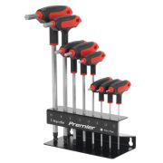 Sealey AK7195 Ball-End Hex Key 8 Piece T-Handle Set Metric