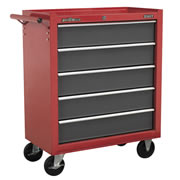 Sealey AP22505BB Sealey Rollcab 5 Drawer with Ball Bearing Runners - Red/Grey