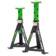 Sealey AS3G Sealey Axle Stands 3 Tonne Capacity per Stand Green (Pair)
