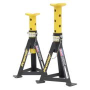 Sealey AS3Y Sealey Axle Stands 3 Tonne Capacity per Stand Yellow (Pair)