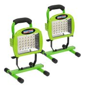 Sealey LED109C-pk2 Sealey 109 LED Rechargeable Portable Li-ion Floodlight - Pack of 2