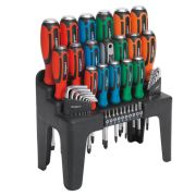 Sealey S01106 Hammer-Thru Screwdriver, Hex Key & Bit Set 44 Piece