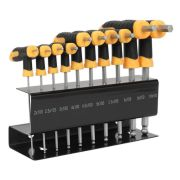 Sealey S01150 Ball-End Hex Key T-Handle Metric 10 Piece Set