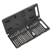 "Sealey S0982 TRX-Star/Hex/Spline Bit Set 40 Piece pc 3/8"" & 1/2"" Square Drive"