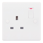 Selectric SSL521 13A 1 Gang Single Pole Switched Socket Outlet