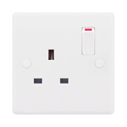 Selectric SSL522 13A 1 Gang Double Pole Switched Socket Outlet