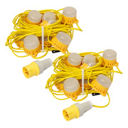 1102/MLEDF 110v 22m 8w LED Festoons - Pack of 2