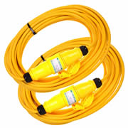 UnBranded SIT110LEAD14PK2 Extension Lead 14mtr (16Amp 110 Volt)Twinpack