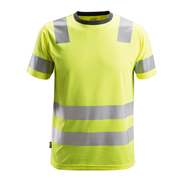 Snickers 25306600 AllroundWork Hi-Vis T-Shirt, Class 2, Yellow