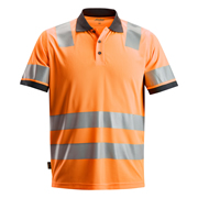 Snickers 27305500 AllroundWork Hi-Vis Polo Shirt, Class 2, Orange