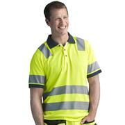 Snickers 27306600 AllroundWork Hi-Vis Polo Shirt, Class 2, Yellow