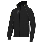 Snickers 28160400 Zipped Sweatshirt Hoodie - Black