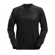 Snickers 28820400 Logo Sweatshirt - Black