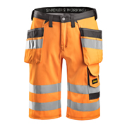 Hi-Vis Holster Pocket Shorts, Class 1, Orange