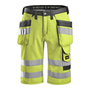 Snickers 30336674 Hi-Vis Holster Pocket Shorts, Class 1, Yellow