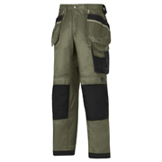 Snickers 32123204 Snickers DuraTwill Trousers With Holster Pockets (Olive)
