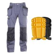 Snickers 3251-PK Core DuraTwill Trousers + Holster Pockets & Knee Pads