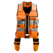 Snickers 42305504 AllroundWork Hi-Vis Toolvest, Class 1, Orange