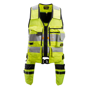 Snickers 42306604 AllroundWork Hi-Vis Toolvest, Class 1, Yellow