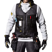 Snickers 42540404 Snickers Canvas+ Tool vest (Black)