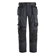 Snickers 62515804 AllroundWork Stretch Loose Fit Trousers with Holster Pockets - Steel Grey