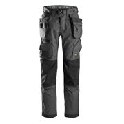 Snickers 69235804 FlexiWork Floorlayer Trouser Steel Grey & Black