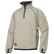 Snickers 80081404 Snickers 1/2 Zip Fleece Jacket (Khaki/Black)