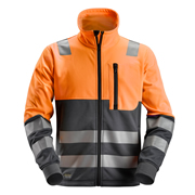 Snickers 80355558 AllroundWork Hi-Vis Full Zip Jacket, Class 2, Orange