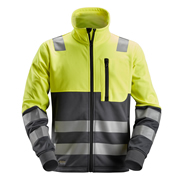 Snickers 80356658 AllroundWork Hi-Vis Full Zip Jacket, Class 2, Yellow