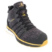 Solid Gear SGSTARCMGTXM Camo GTX Mid Safety Trainers - Black/Yellow