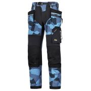 "Snickers 69028604 Snickers FlexiWork Camo Trousers with Holster Pockets (Navy) 30"" L 33"" W"