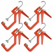 "Solo 150MPK4 Solo One Handed Clamp - Metal Pads (150mm/6"") Pack of 4"
