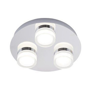 SPA SPA31736CHR Amalfi 3 Plate LED Flush Bathroom Light - Chrome