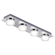 SPA SPA31737CHR Amalfi 4 Bar LED Flush Bathroom Light - Chrome