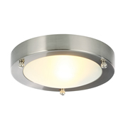 SPA SPA-AJ-9681B Flush Bathroom Small Single Light - Brushed Steel