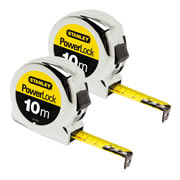 Stanley 0-33-442 Stanley Powerlock Metric Tape 10m Twin Pack