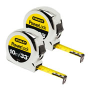 Stanley 033443 Powerlock Tape Measure 10m/33ft - Pack of 2