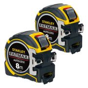 Stanley 033501PK2 Fatmax Autolock Tape Measure 8m Metric - Pack of 2