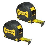 Stanley 033568PK2 Griptape Tape Measure 5m Metric - Pack of 2