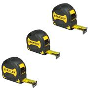 Stanley 033569PACK Griptape Tape Measure 3m/10'/5m/16'/8m/26' Pack