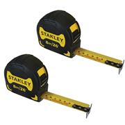 Stanley 033659PK2 Griptape Tape Measure 8m/26' - Pack of 2