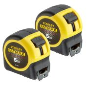 Stanley FatMax Blade Armor Tape Measure 5m Metric - Pack of 2