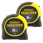 Stanley 033728PK2 FatMax Blade Armor Tape Measure 8m Metric - Pack of 2