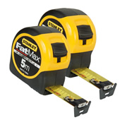 Stanley 033864PK2 FatMax Blade Armor Magnetic Tape Measure 5m Metric - Pack of 2
