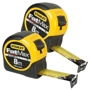 Stanley 033868PK2 FatMax Blade Armor Magnetic Tape Measure 8m Metric - Pack of 2
