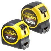 Stanley  Stanley Fatmax Tape Measure Classic Twinpack -  5m/16ft & 8m/26ft